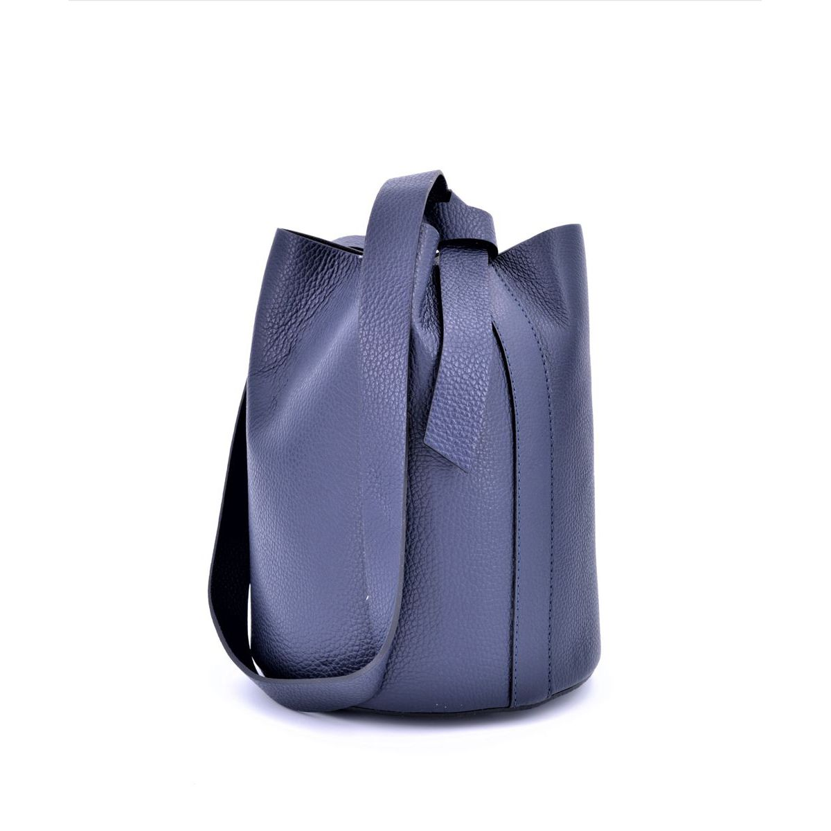 SHOULDER/LEATHER BAG Blue BRASS Workshop
