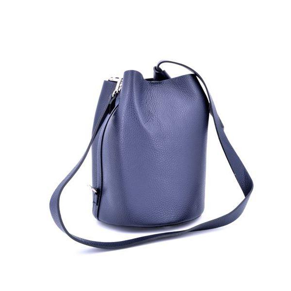 SHOULDER/LEATHER BAG Blue BRASS Workshop