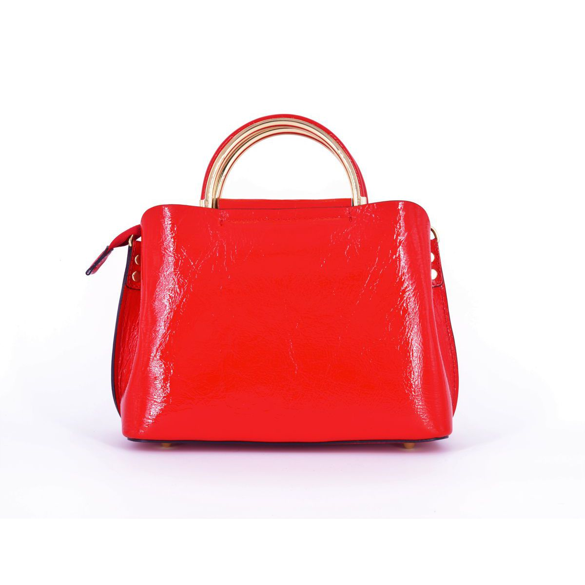 POLISH LEATHER BAG Red BRASS Workshop
