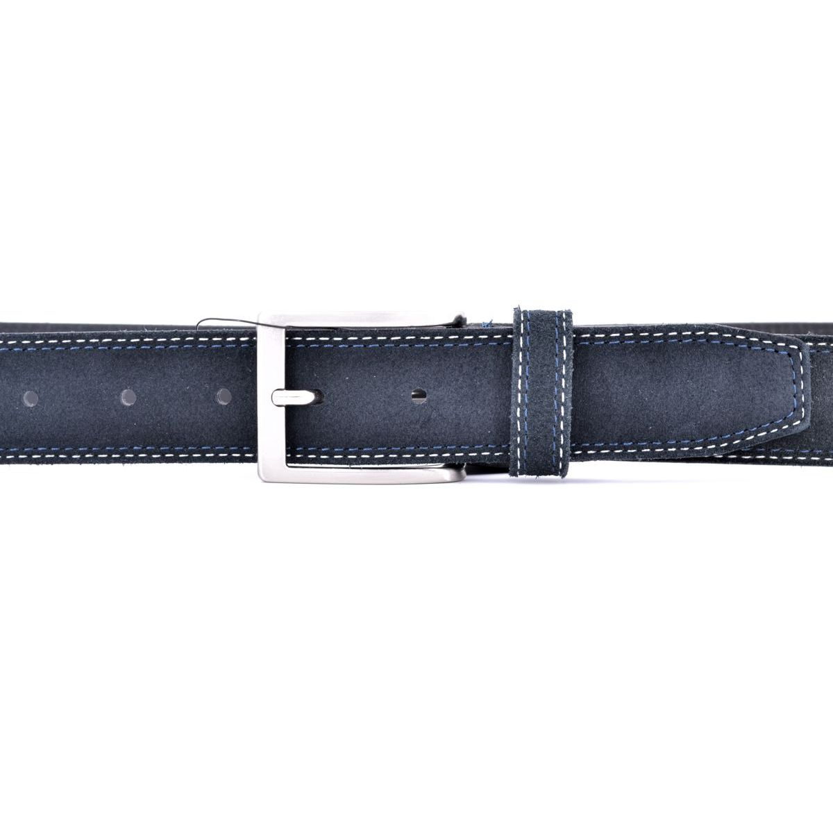 Suede belt 002 Black BRASS Workshop