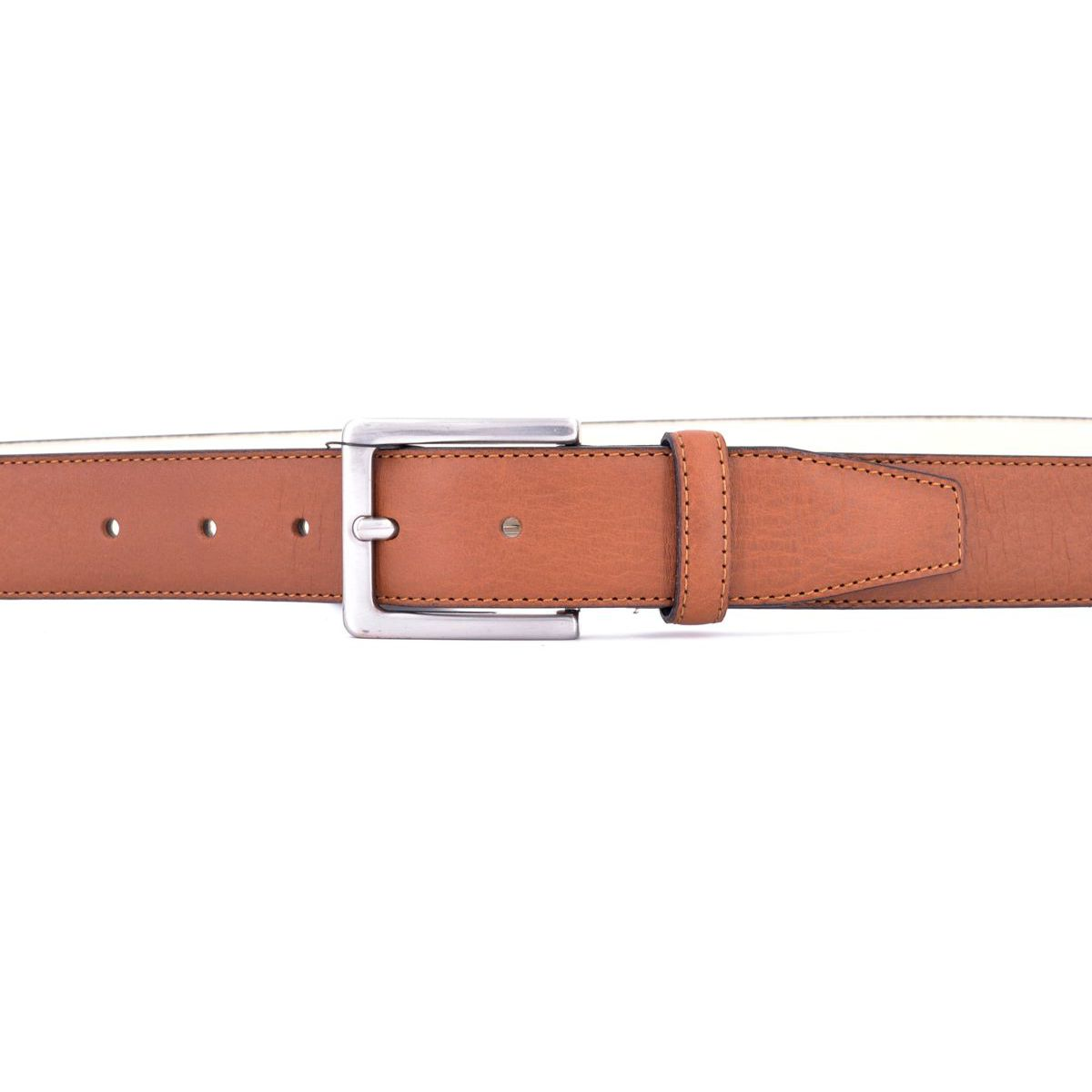 leather belt 003 Brown BRASS Workshop