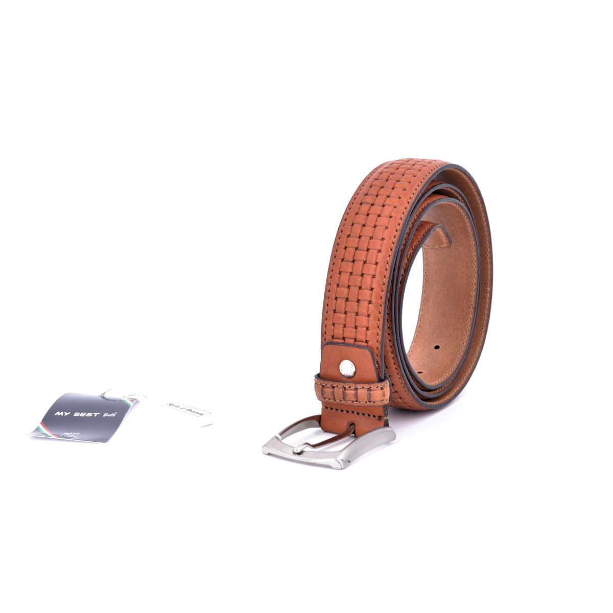 Braided effect Belt Brown BRASS Workshop