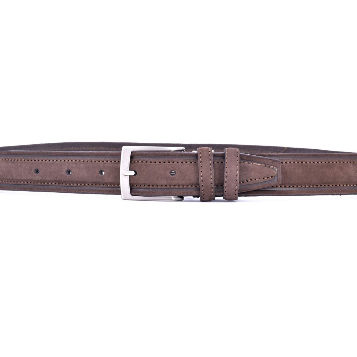 belt suede 002 Brown BRASS Workshop