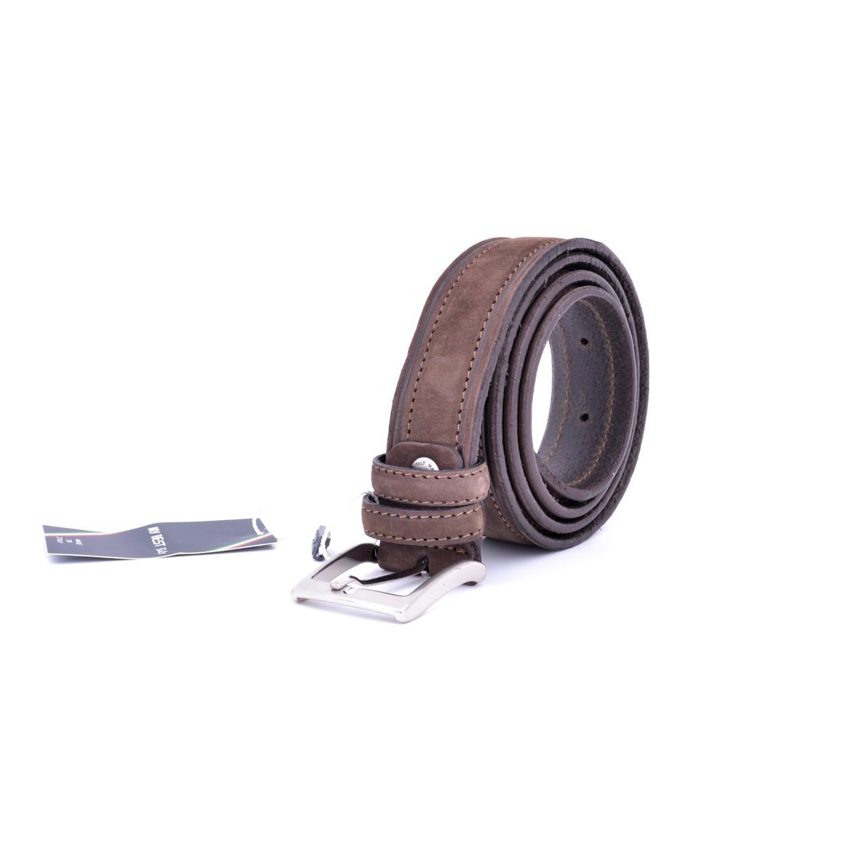 belt suede 002 Brown BRASS Workshop