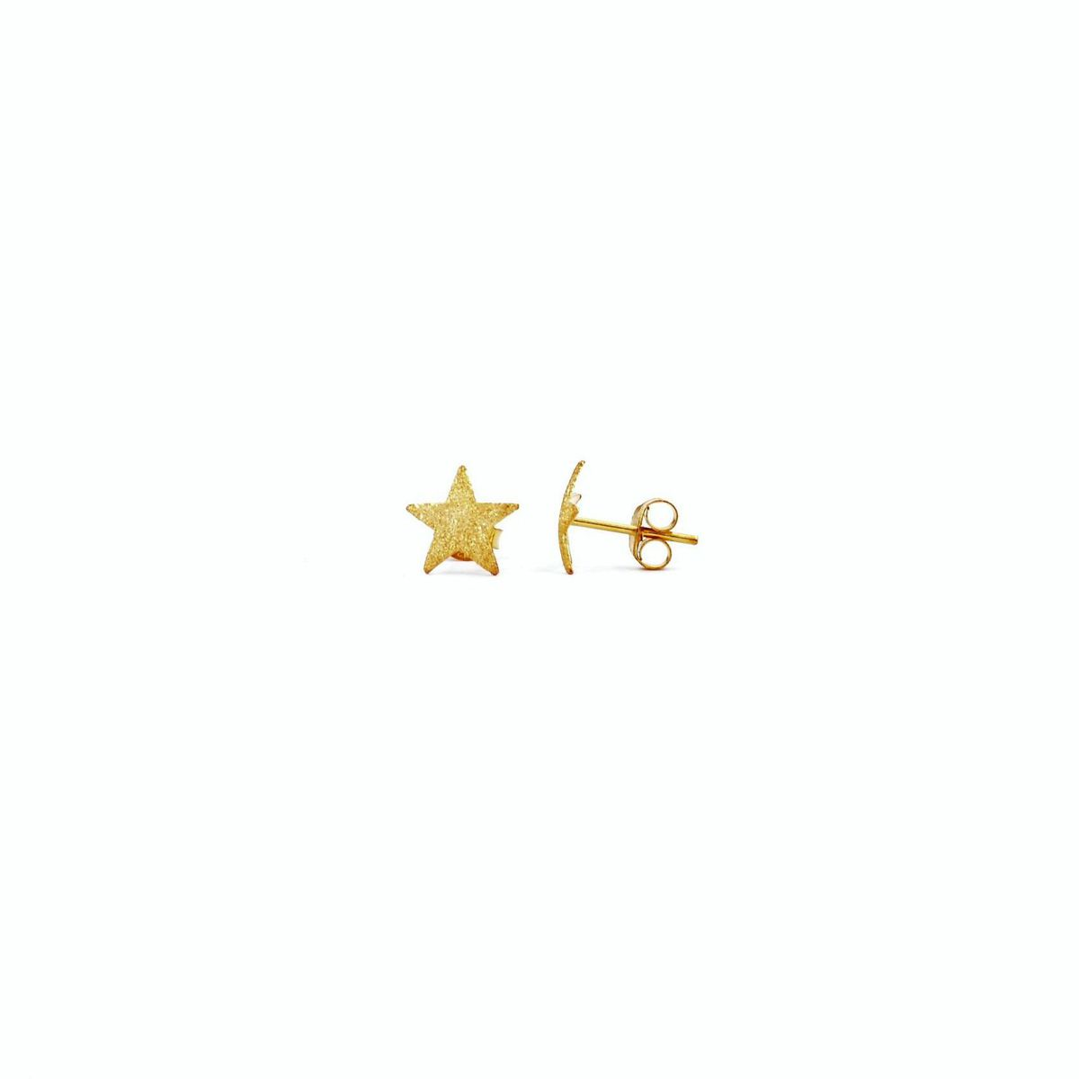 Star Earrings 1 Gold BRASS Gioielli