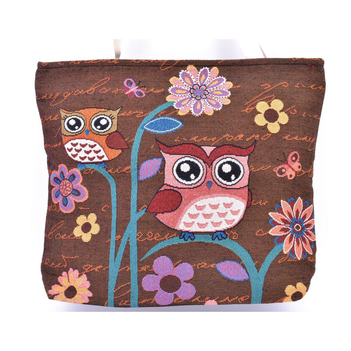 Owls Bag Brown BRASS Workshop