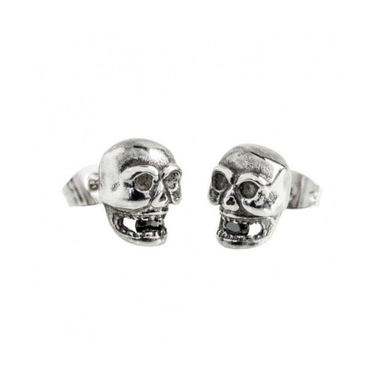 Skull Earrings Black Marlù