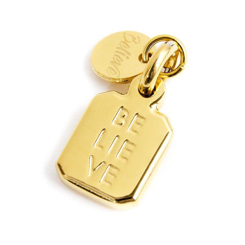 Charm Steel Madonna Rectangular Gold Marlù