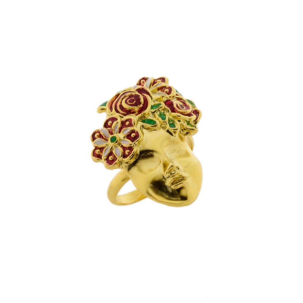 Ring SciauRosa J-A107 Gold GIULIANAdiFRANCO