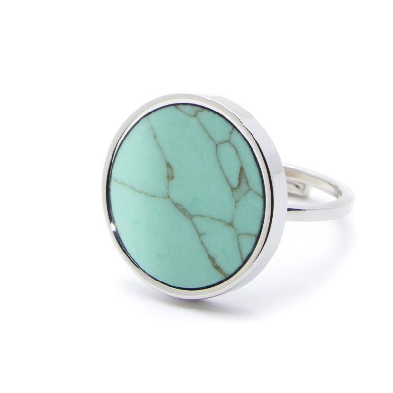 Turquoise steel ring 2 CM Turquoise Marlù
