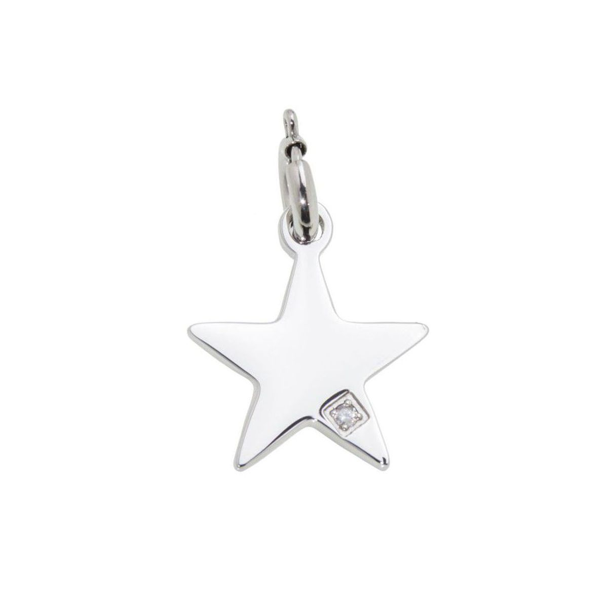 Star steel charm with zircon Steel Marlù