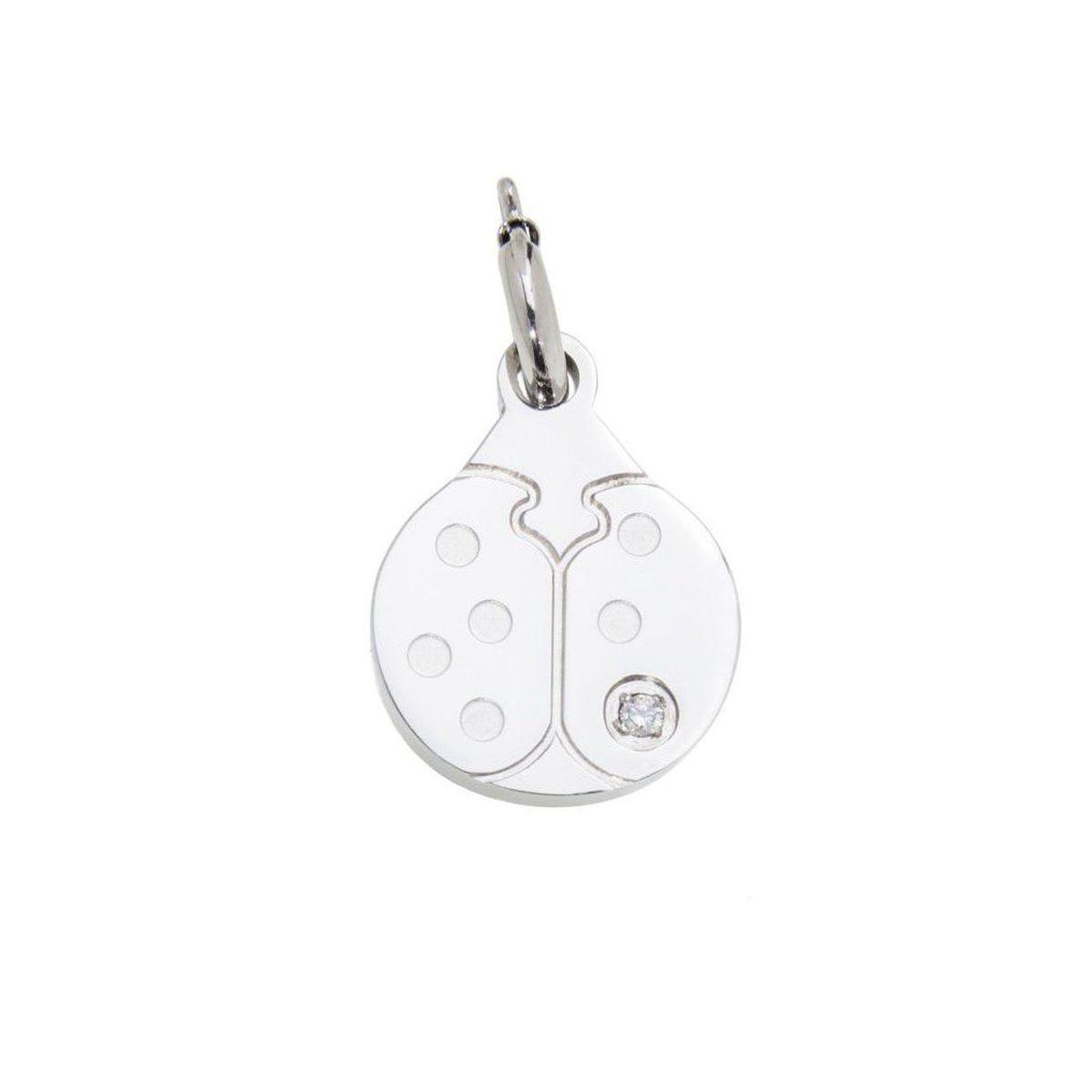 Ladybug steel charm with zircon Steel Marlù