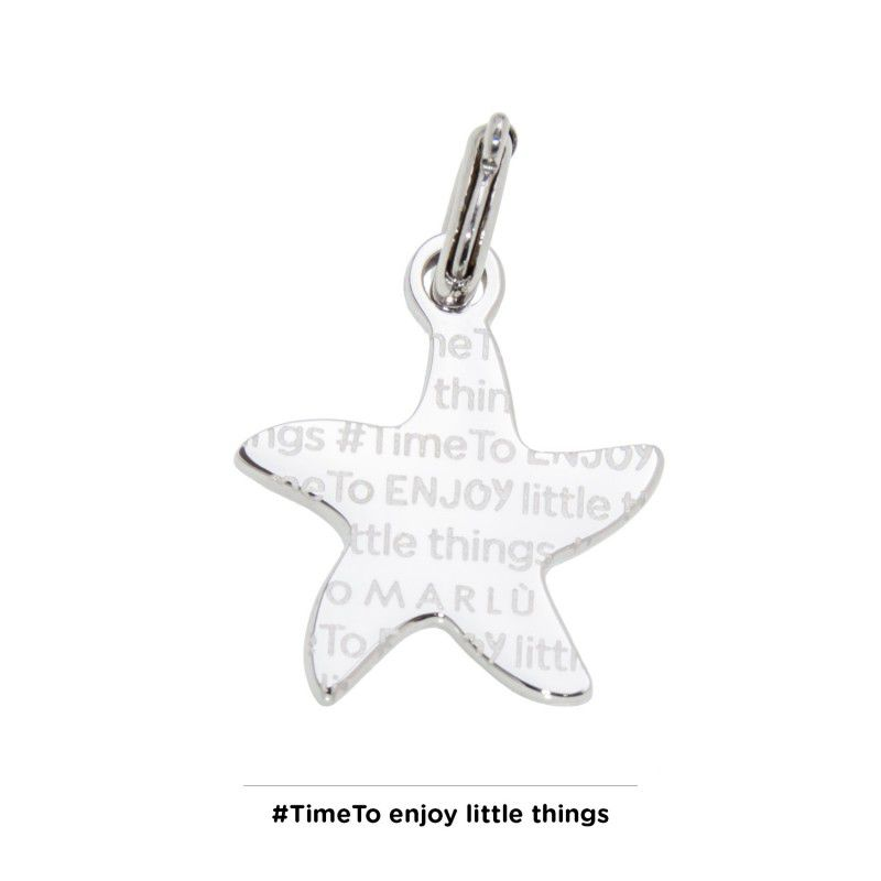 Starfish steel charm with zircon Steel Marlù