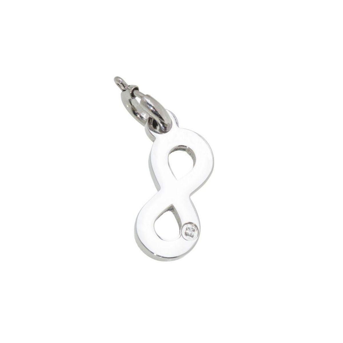Infinity steel charm with zircon Steel Marlù