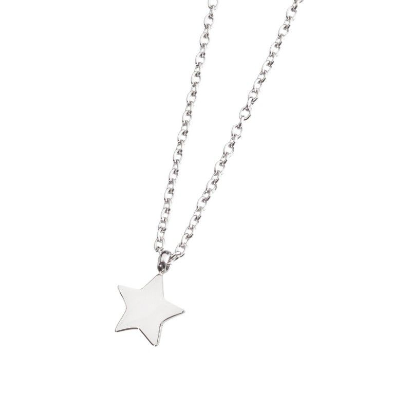 Steel necklace with star Steel Marlù