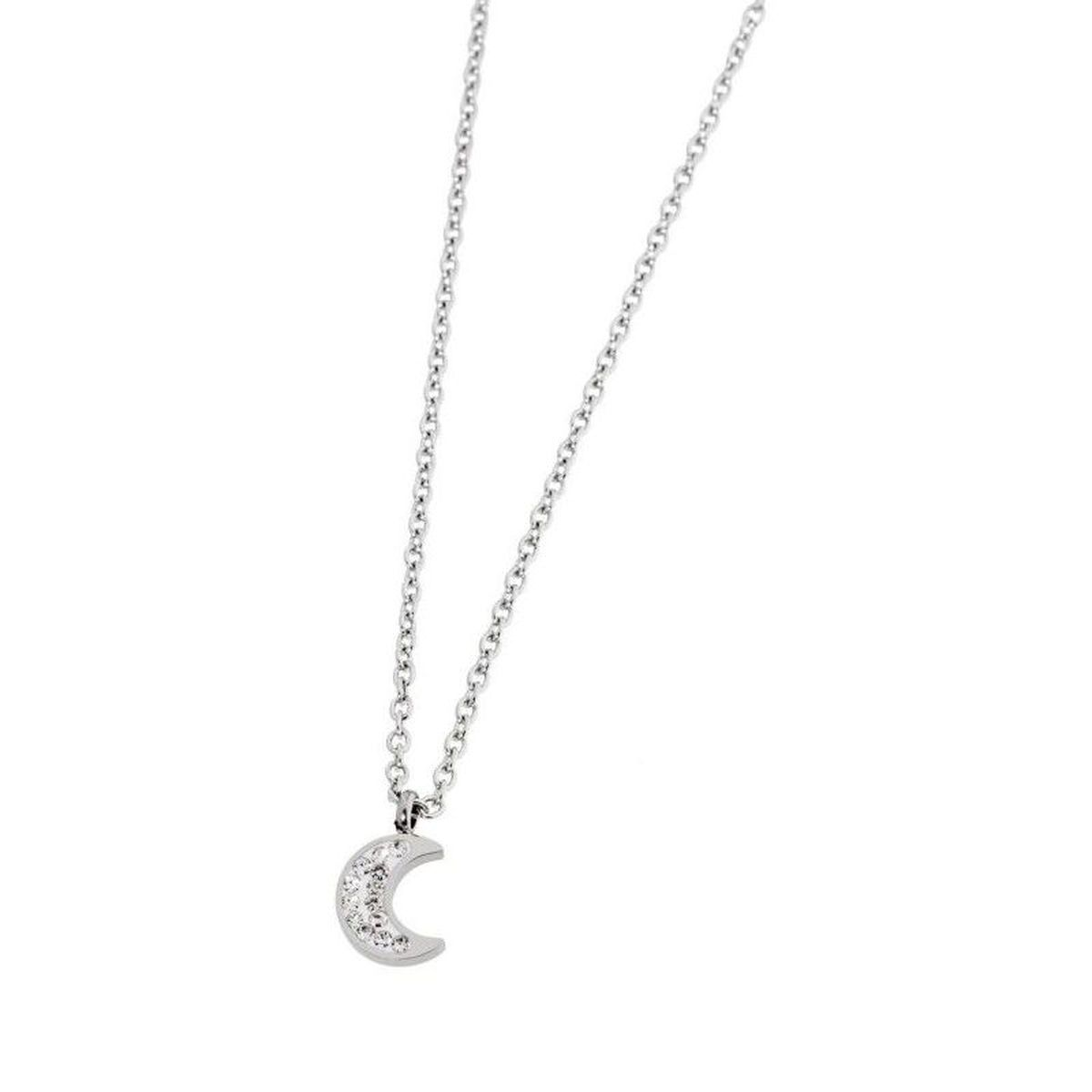 Luna necklace with rhinestones White Marlù