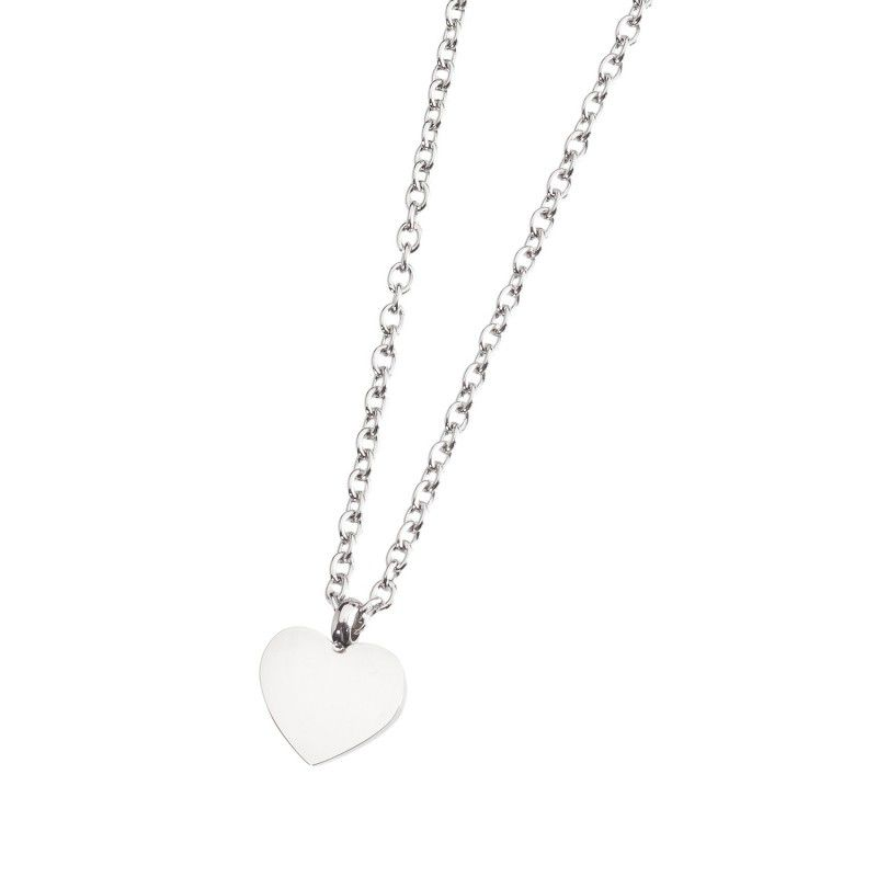 Steel necklace with heart Steel Marlù