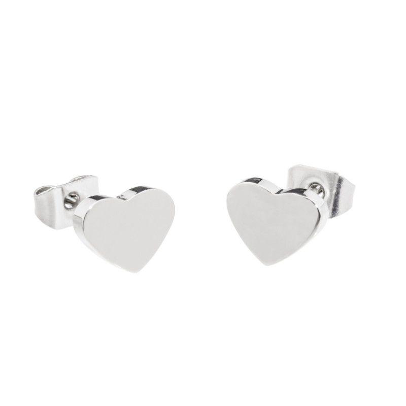 Steel heart earrings Steel Marlù