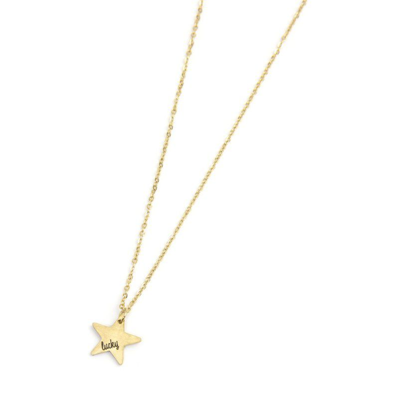 Lucky star steel necklace Gold Marlù