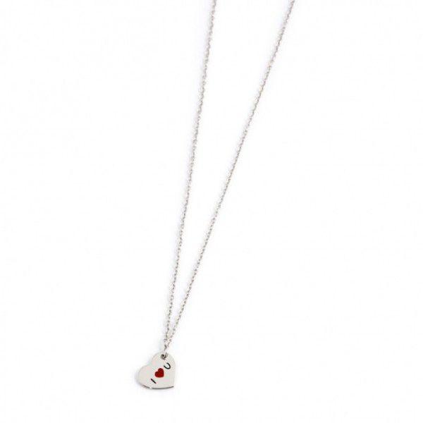 Iloveyou heart necklace Steel Marlù