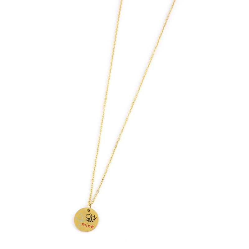 """Bee Mine"" steel necklace Gold Marlù"