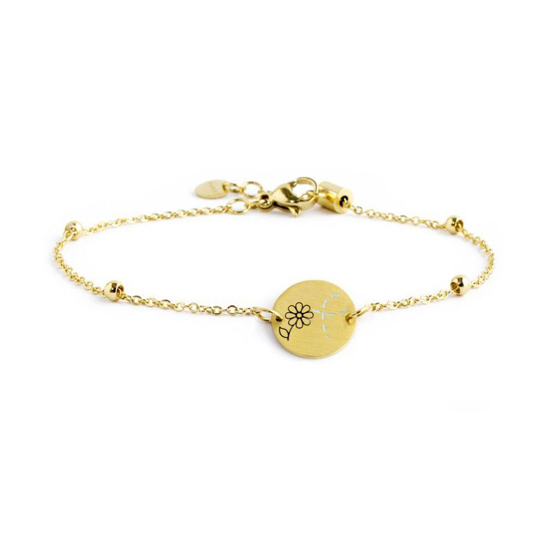 """Bee Mine"" steel bracelet Gold Marlù"