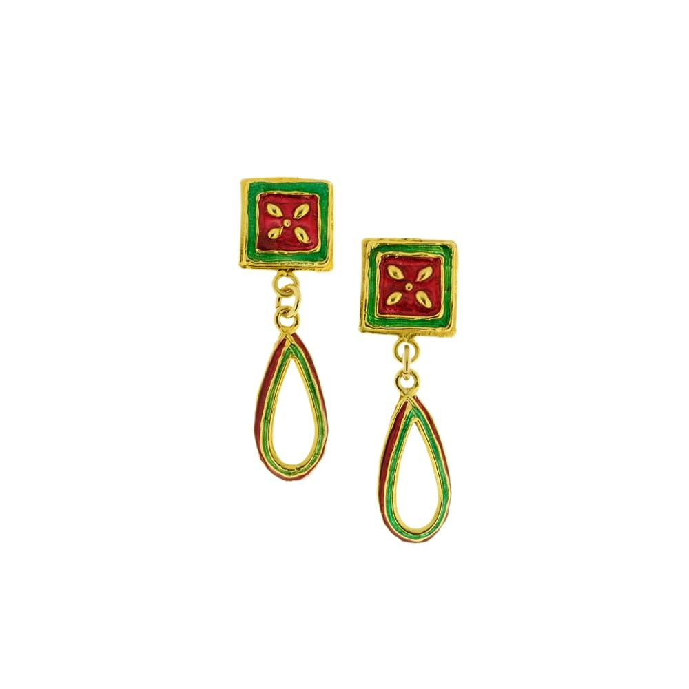 Maduni Pinti Earrings J-E145 Red GIULIANAdiFRANCO