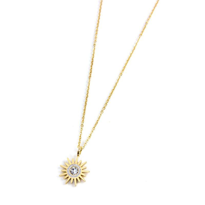 Sun pendant necklace 1.5 cm Gold Marlù