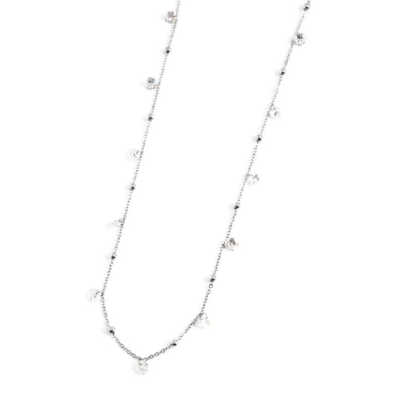Steel necklace with white crystals 90 cm Steel Marlù