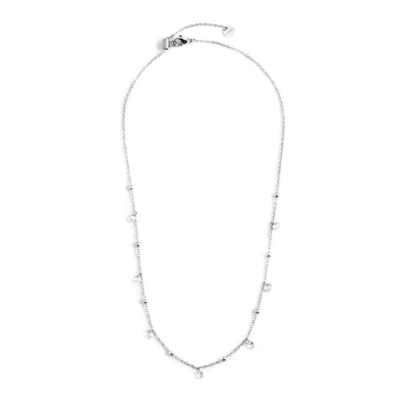 Steel necklace with white crystals 45 cm Steel Marlù