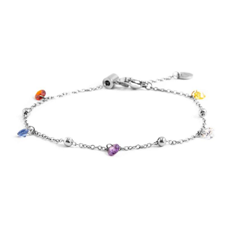 Steel bracelet with colored crystals Steel Marlù