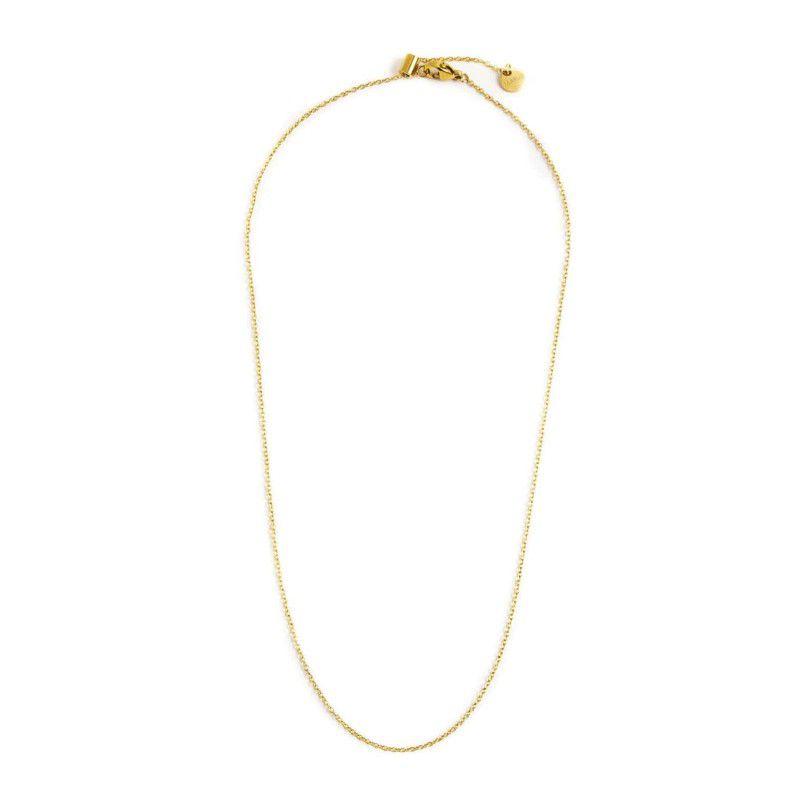44 cm steel necklace th. 1.2 mm Gold Marlù