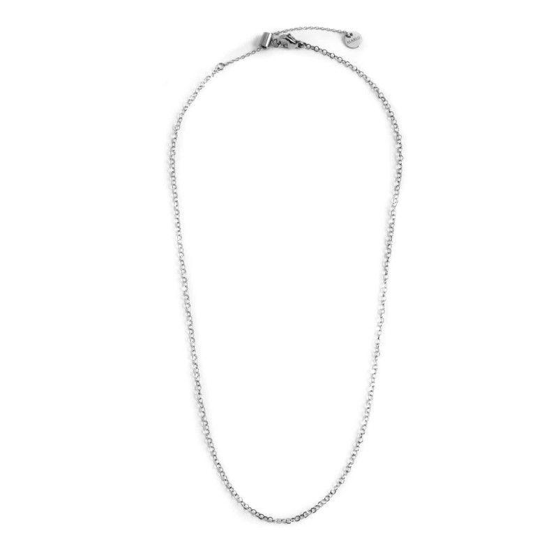 45 cm steel necklace Steel Marlù