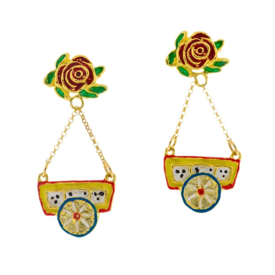 SciauRosa Earrings J-E163 Red GIULIANAdiFRANCO