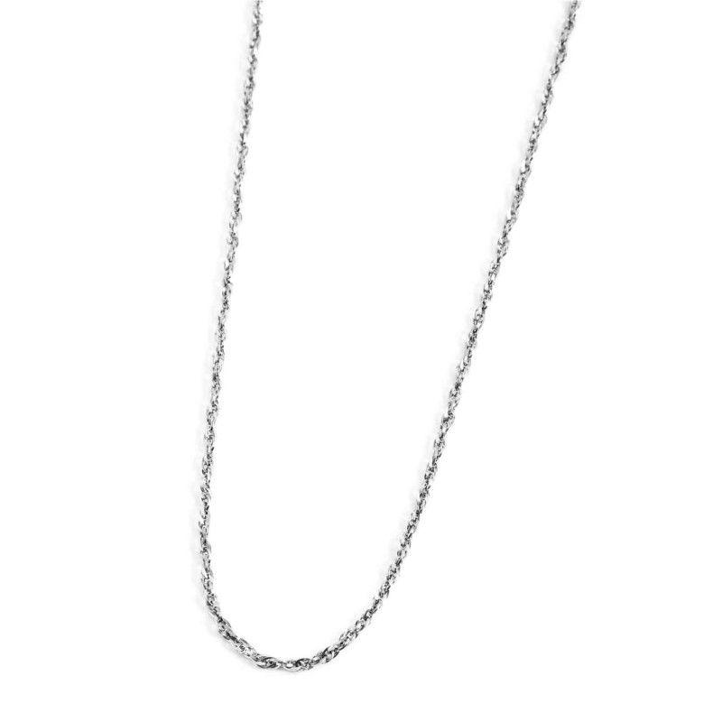 Stainless steel twist chain necklace 90 cm Steel Marlù