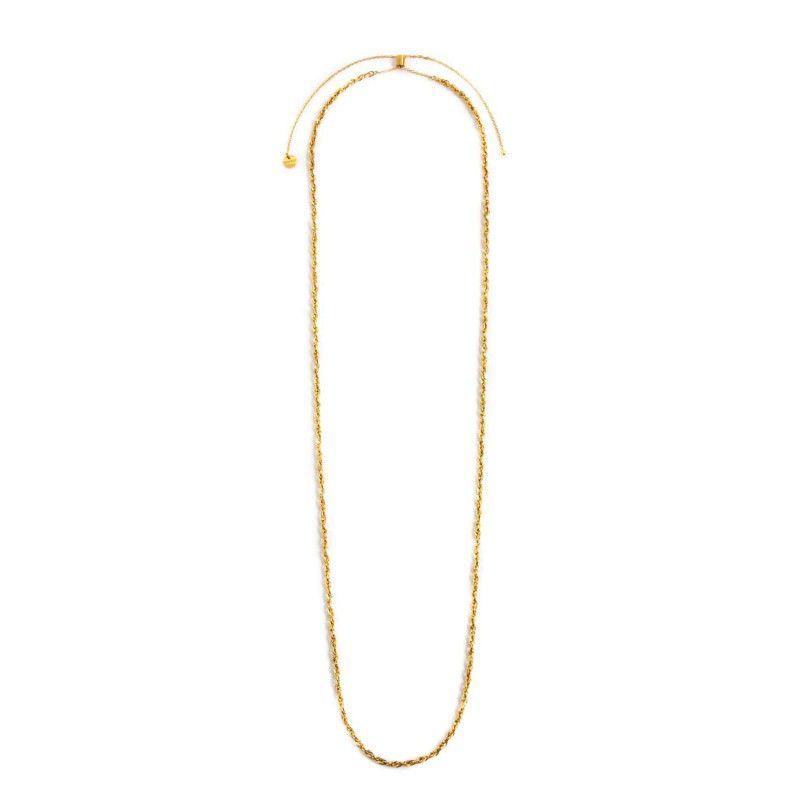 Stainless steel twist chain necklace 90 cm Gold Marlù