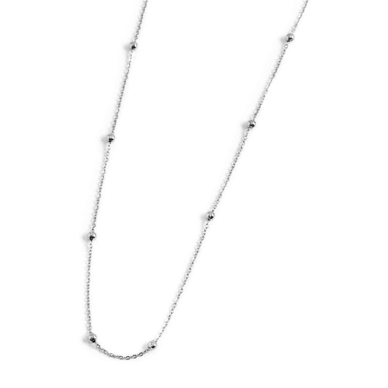 90 cm steel necklace with spheres Steel Marlù