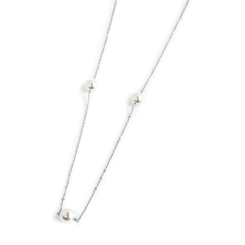 10 mm pearl necklace with tassel White Marlù