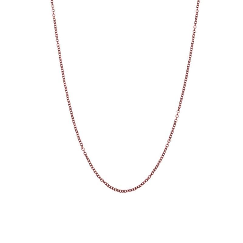 42 cm steel chain necklace Rosegold Marlù