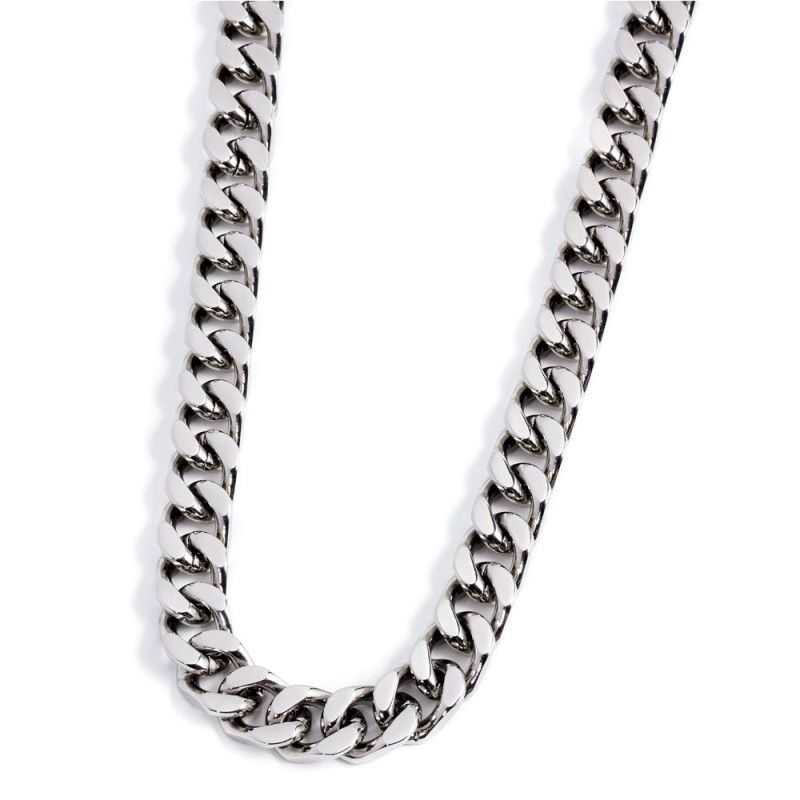 12 mm curb steel chain necklace Steel Marlù