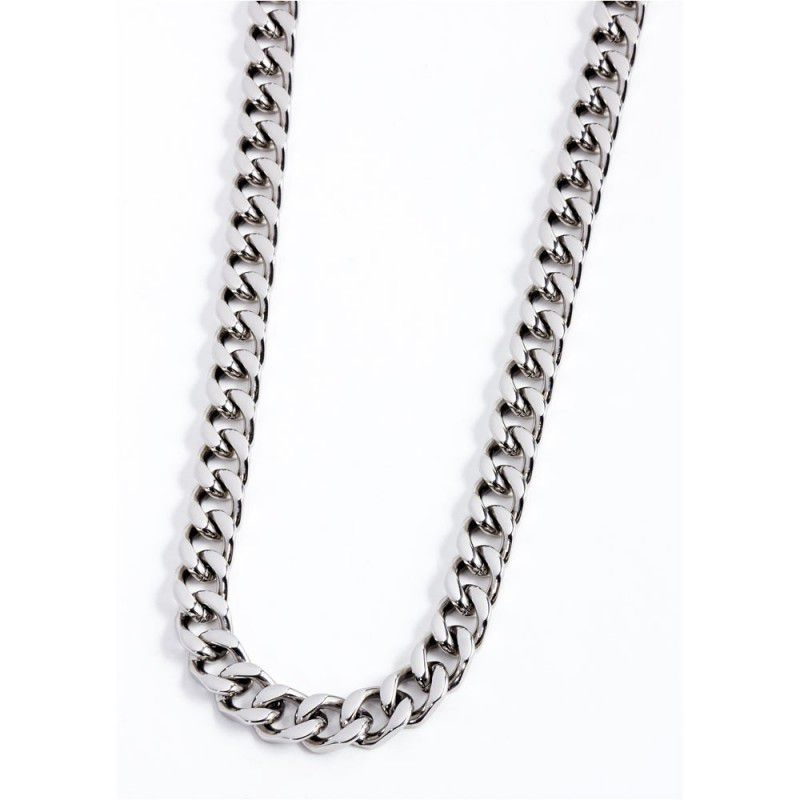 Curb chain necklace 10 mm Steel Marlù