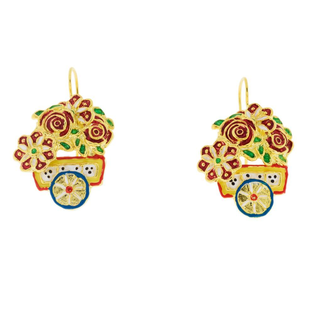 SciauRosa Earrings J-E165 Gold GIULIANAdiFRANCO