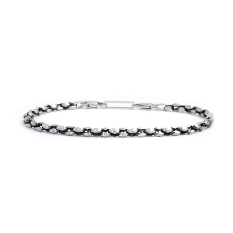 Marine chain steel bracelet Burnished Marlù
