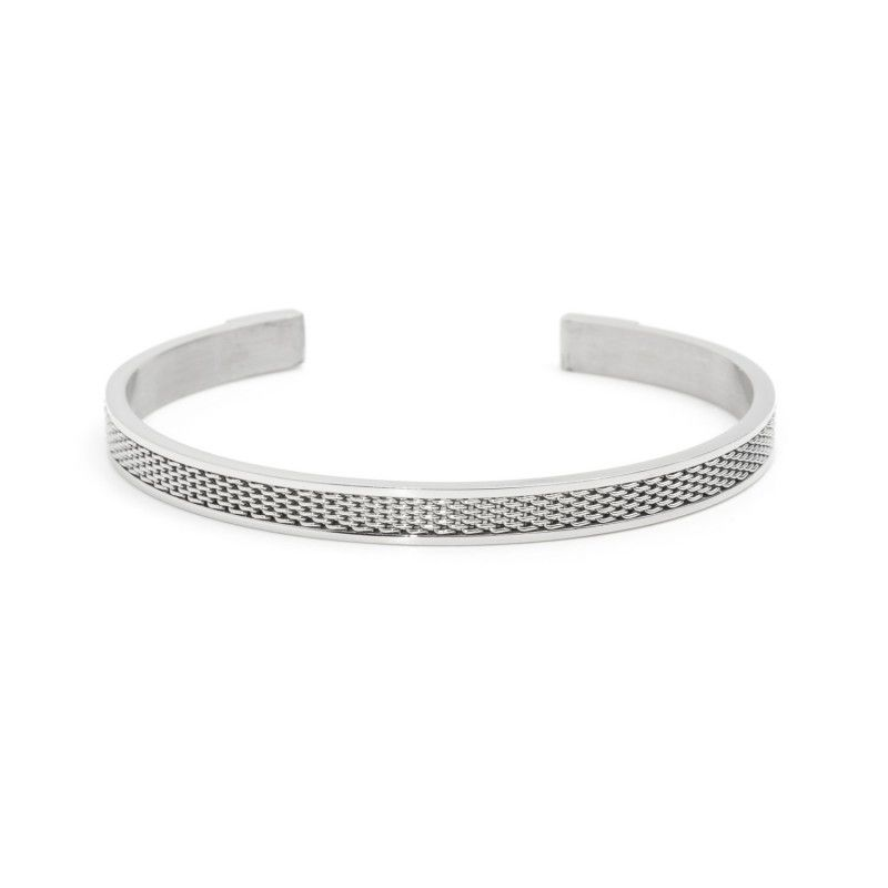 Rigid bracelet stocking cuff Steel Marlù