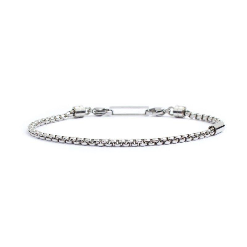 Steel box rounded bracelet 3 mm Steel Marlù