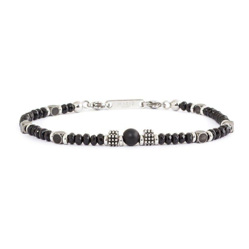 Black agate bracelet Black Marlù