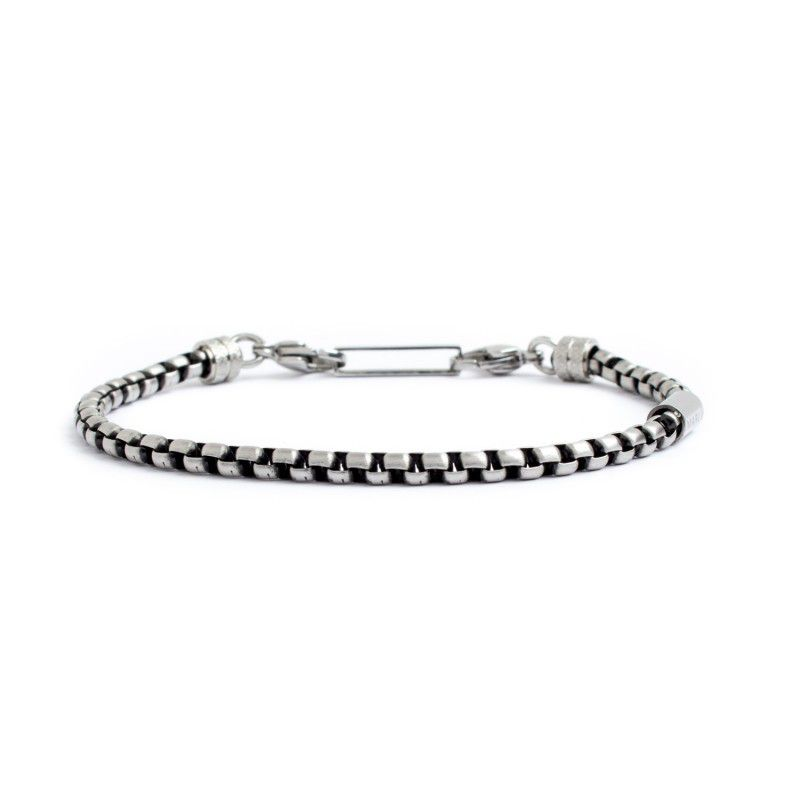 4 mm rounded box chain bracelet Burnished Marlù