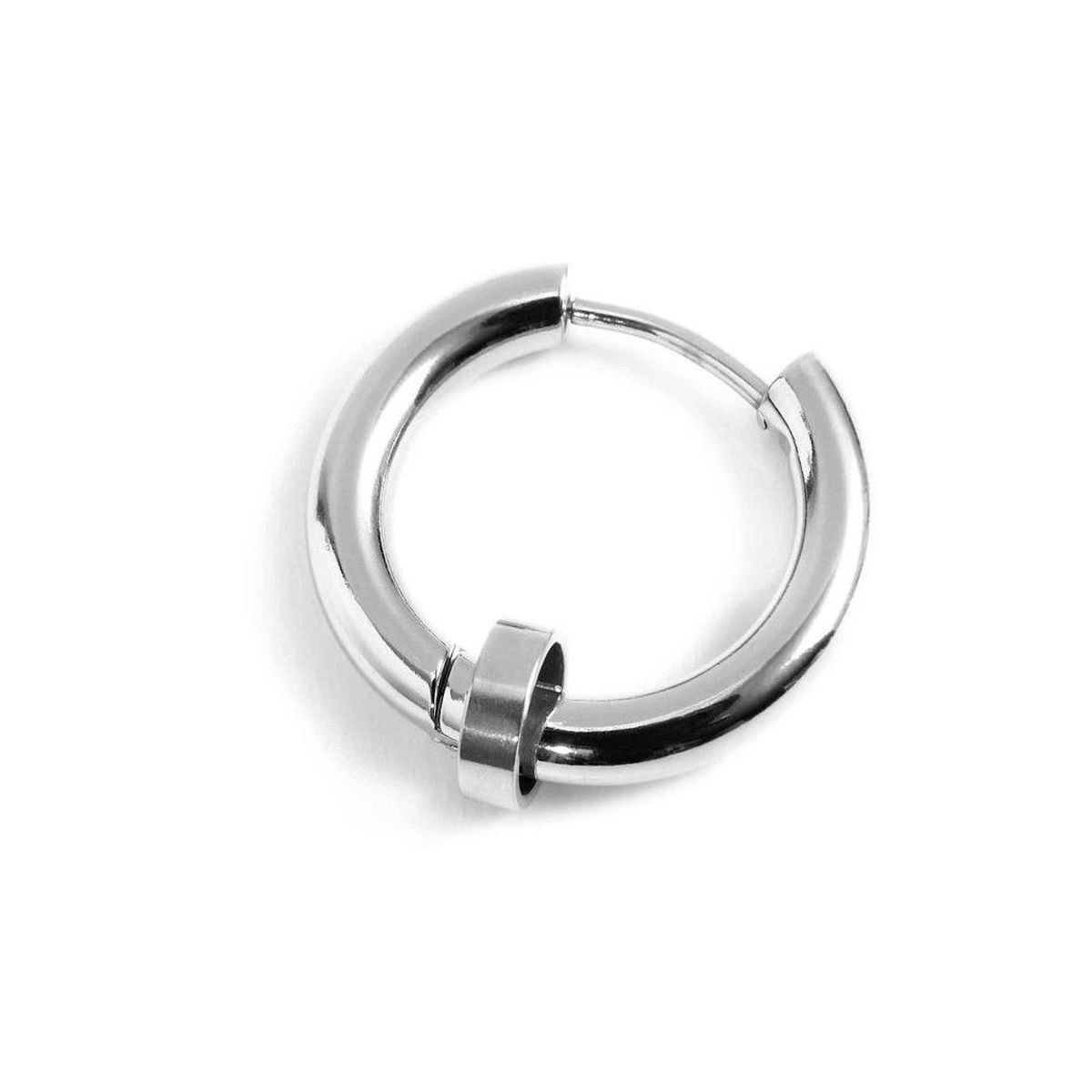 Single earring steel circle 19 mm Steel Marlù