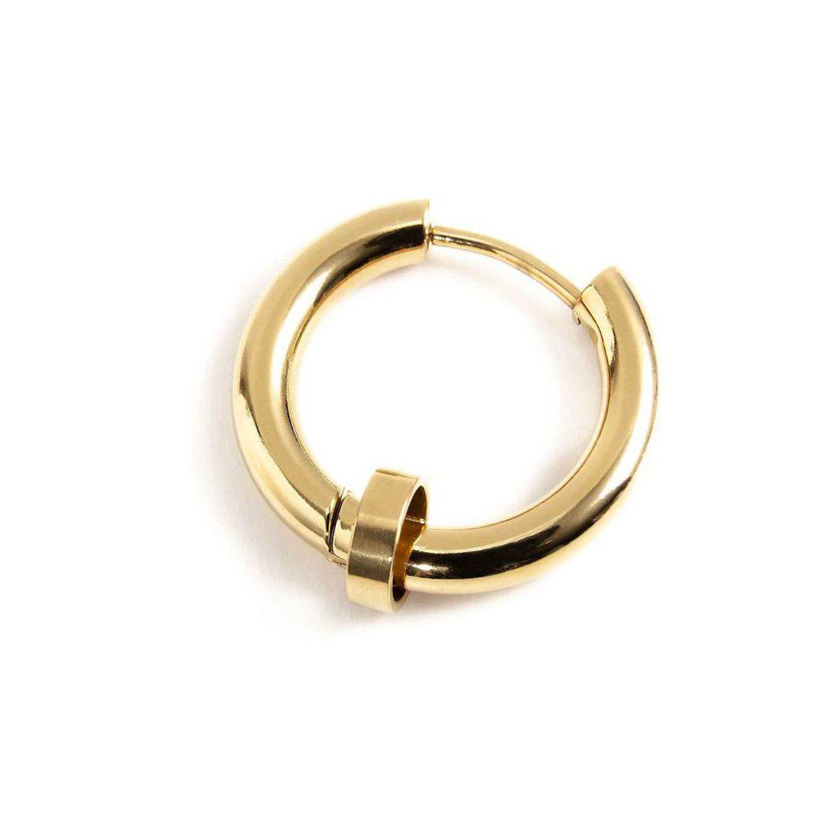 Single earring steel circle 19 mm Gold Marlù