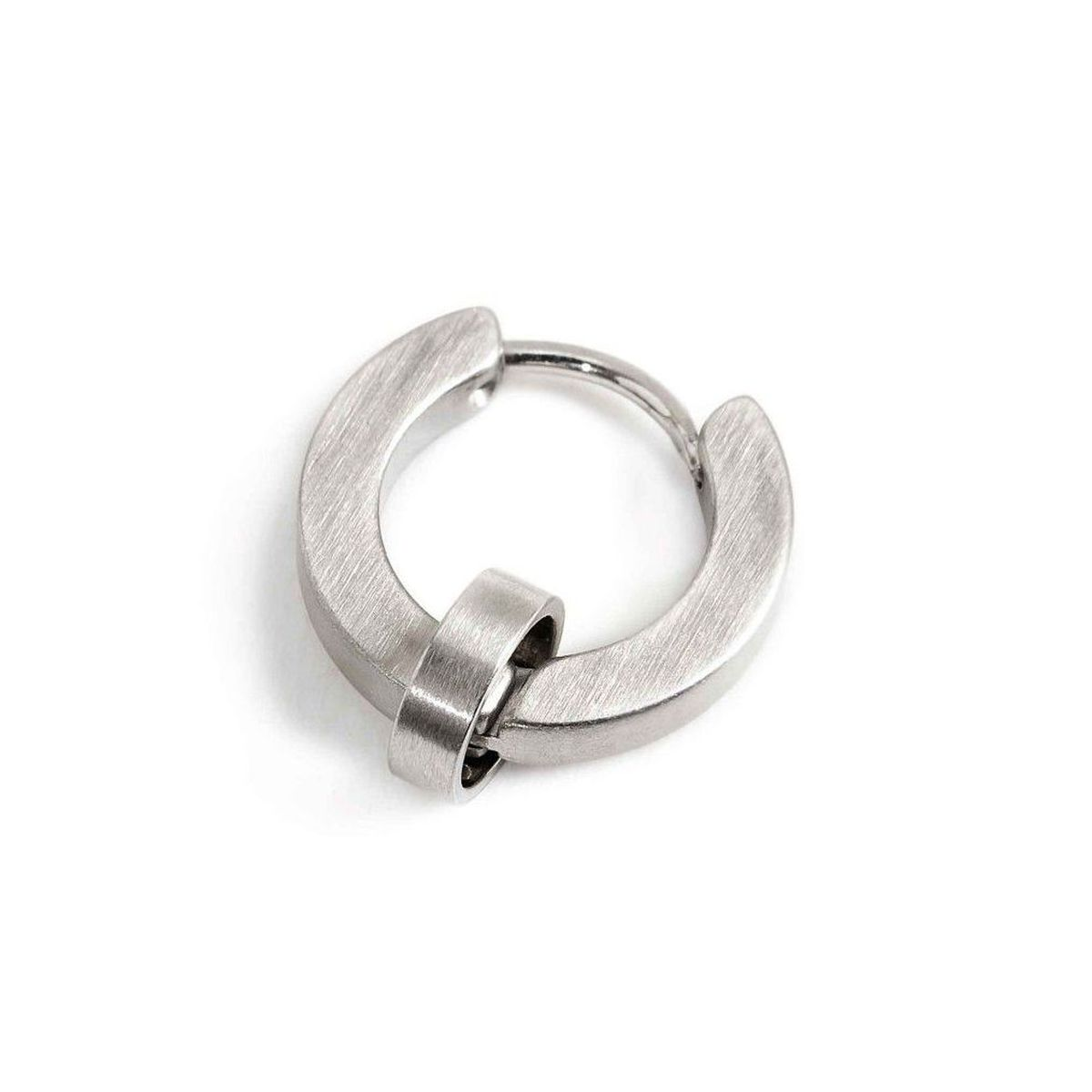Single earring steel circle 14 mm - th. 2.3 mm Satin Marlù